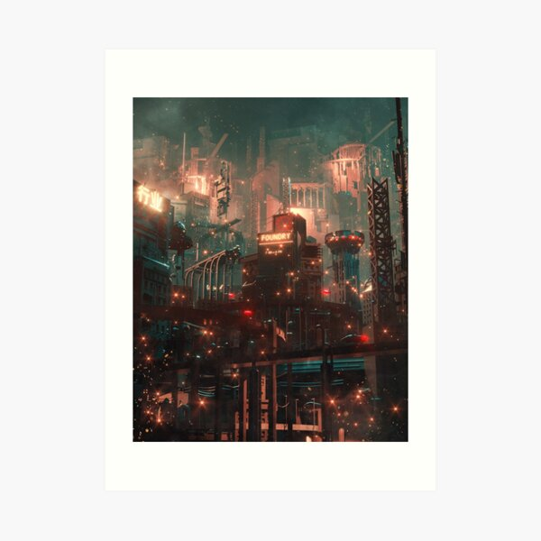 Future Foundry. by Dangiuz Art Print