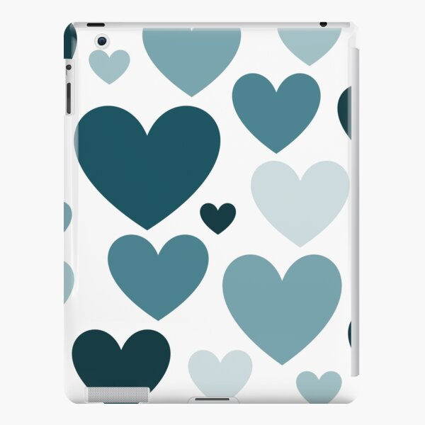 Cyan Love Hearts (Varied) iPad Snap Case