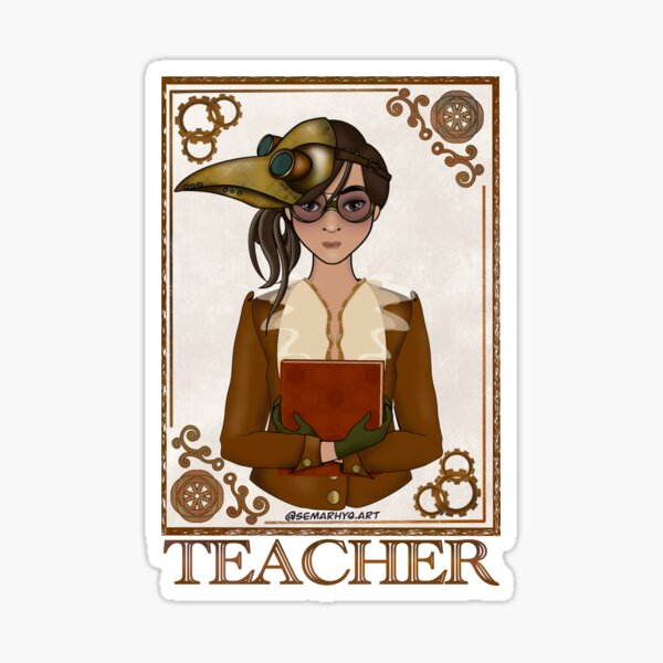 Teacher (STEAMpunk Art) Sticker