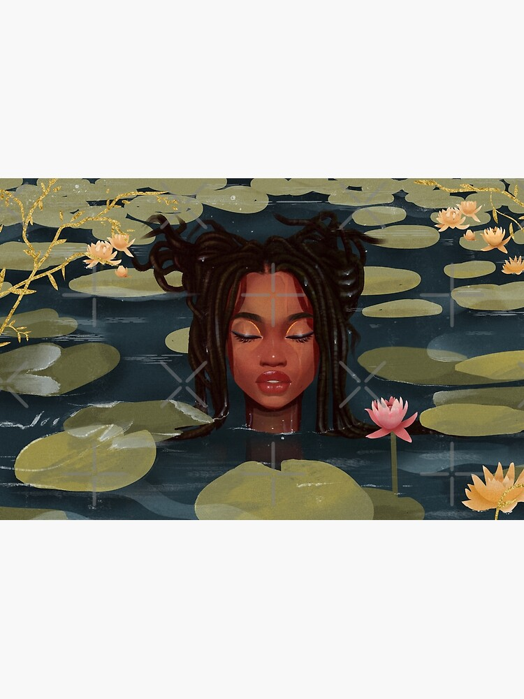Immersed in nature. Portrait art illustration.  by euaadesigns
