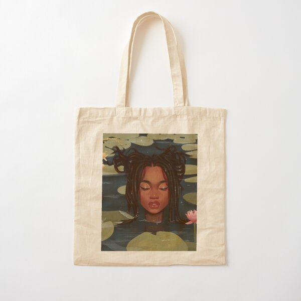 Immersed in nature. Portrait art illustration.  Cotton Tote Bag
