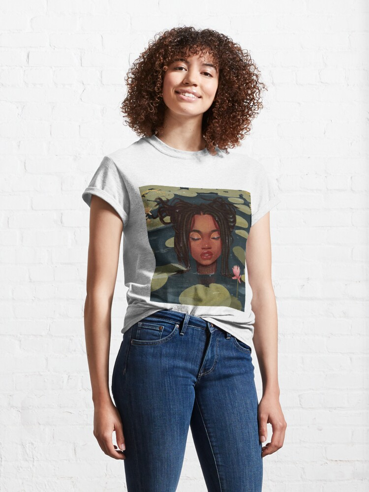 Alternate view of Immersed in nature. Portrait art illustration.  Classic T-Shirt