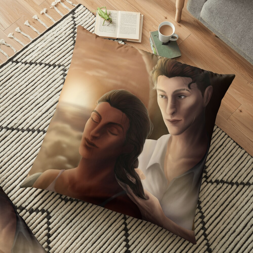 Kaz Braiding Inej's Hair Floor Pillow