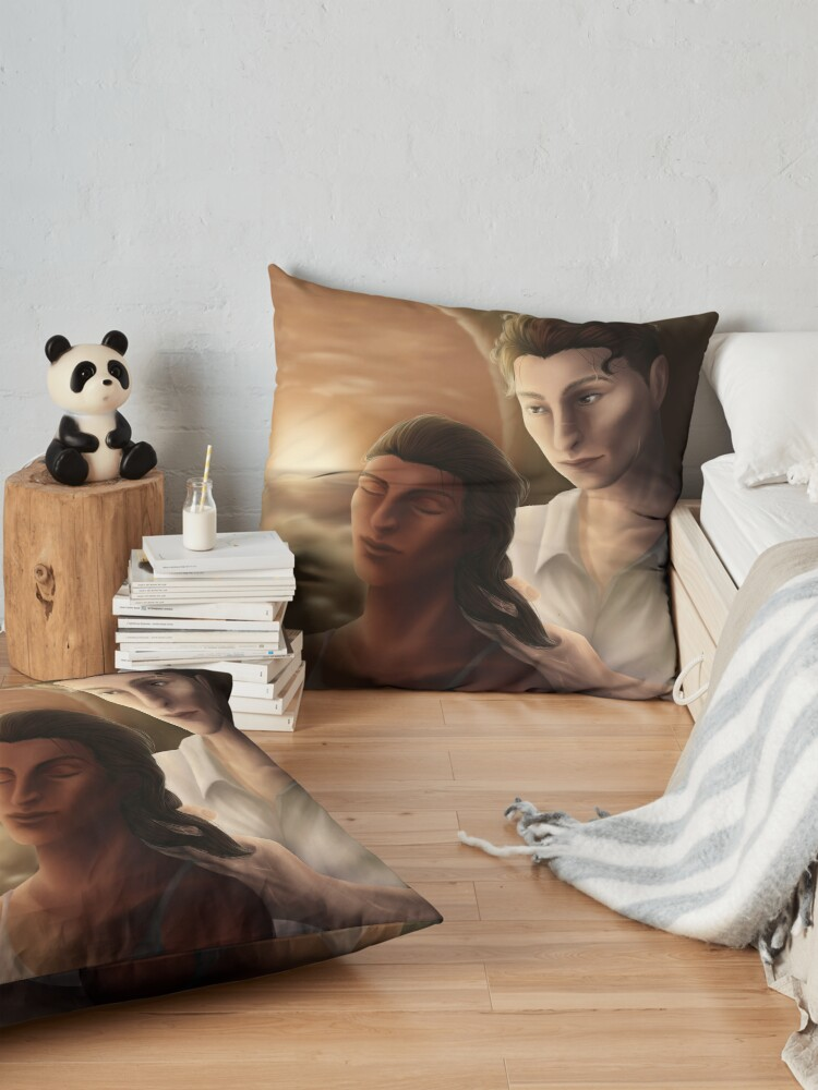 Alternate view of Kaz Braiding Inej's Hair Floor Pillow