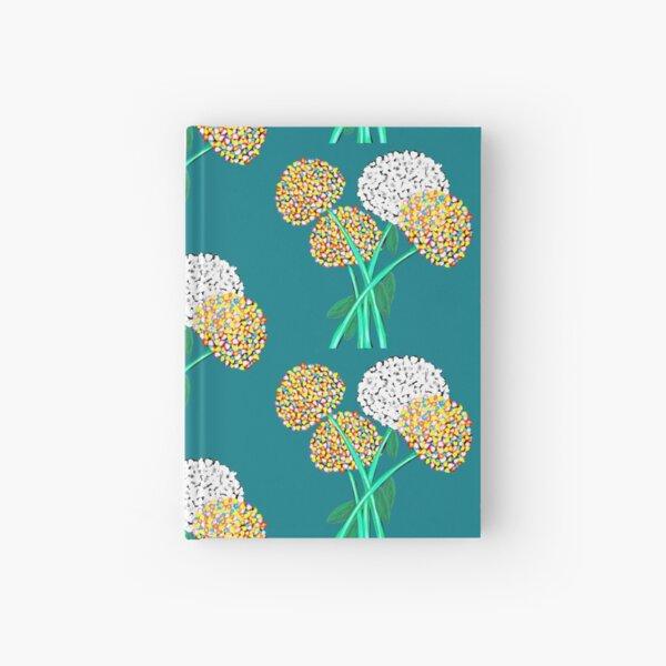 Pom Pom Flowered Bouquet Hardcover Journal