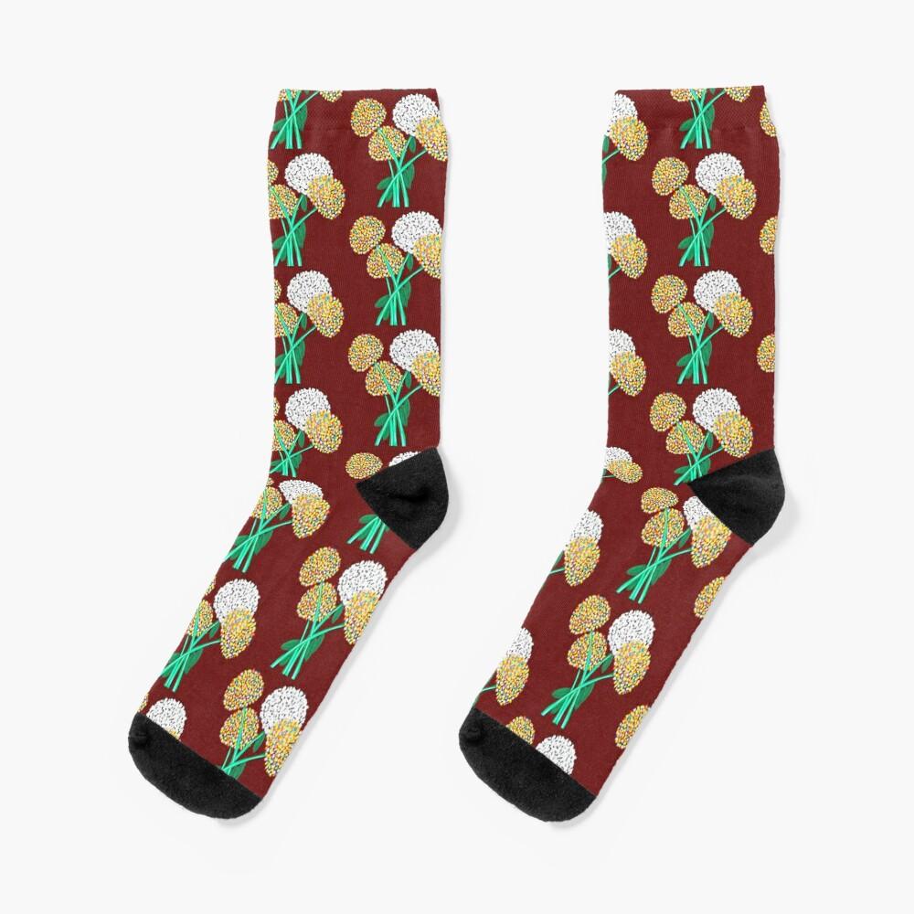 Pom Pom Flowered Bouquet Socks