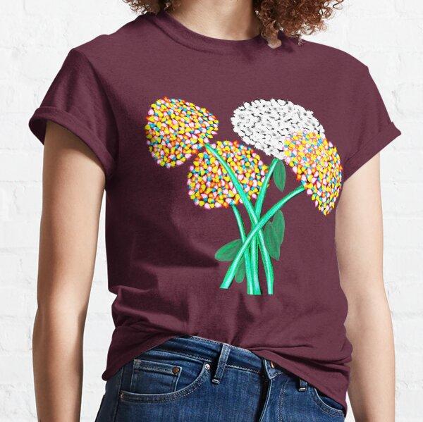 Pom Pom Flowered Bouquet Classic T-Shirt