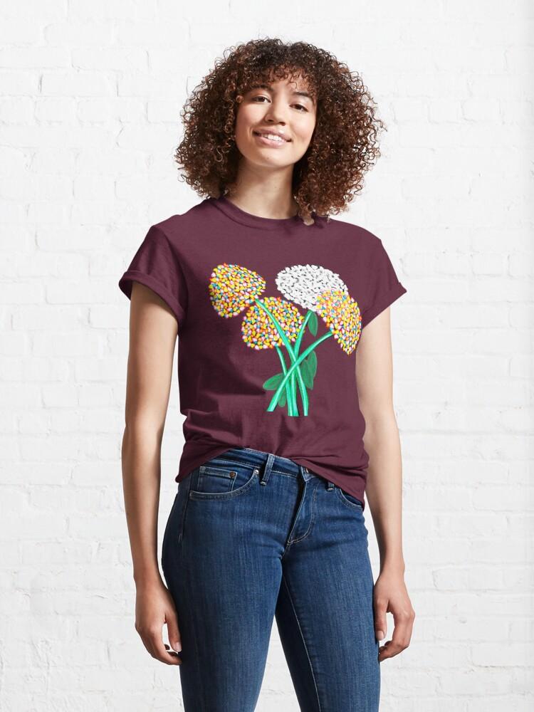 Alternate view of Pom Pom Flowered Bouquet Classic T-Shirt