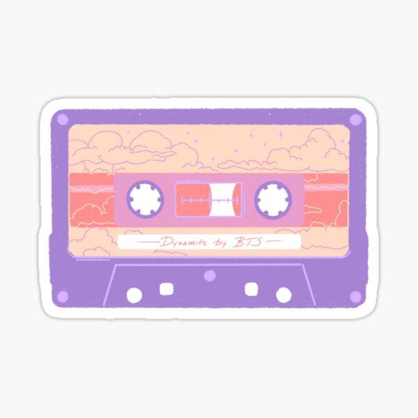 BTS Dynamite Cassette Sticker