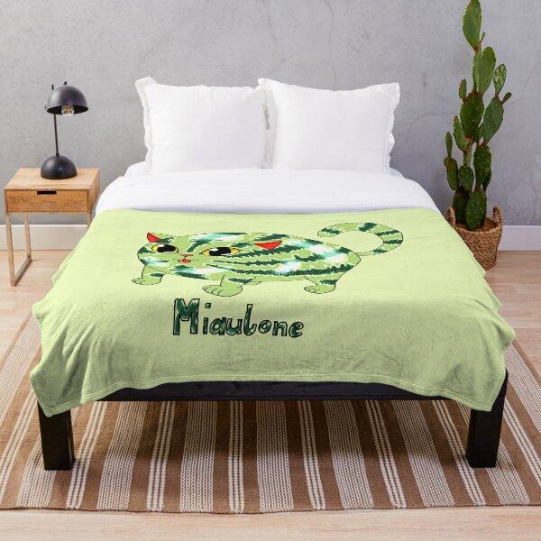 Miaulone: 1/2 Melone, 1/2 Katze Version 2 Fleecedecke