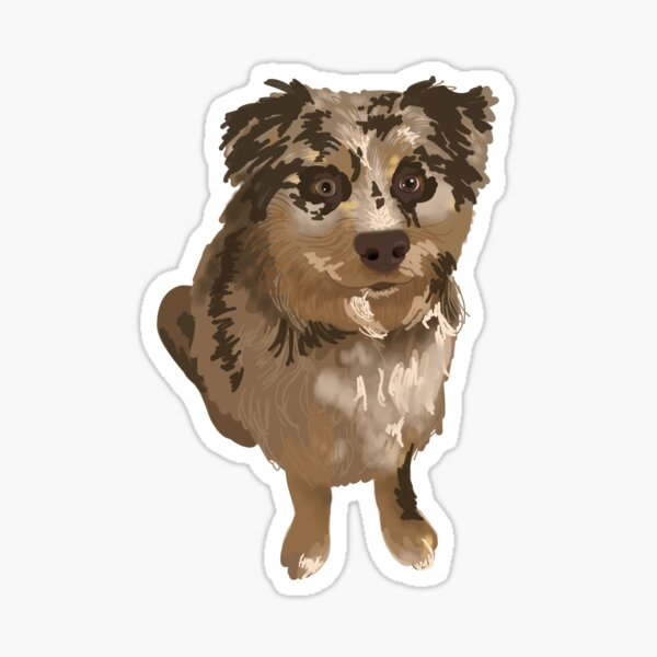 A Lovely Puppy Friend Sticker