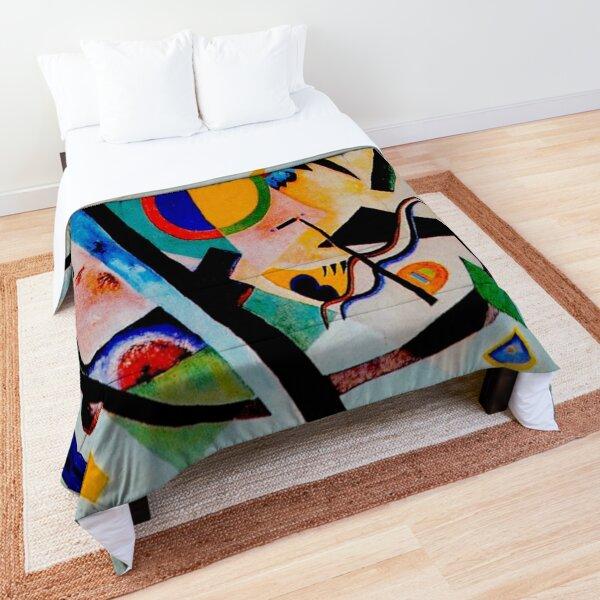 Wassily Kandinsky | Multicolored-Circle |  Kandinsky Inspired Fine Art Comforter