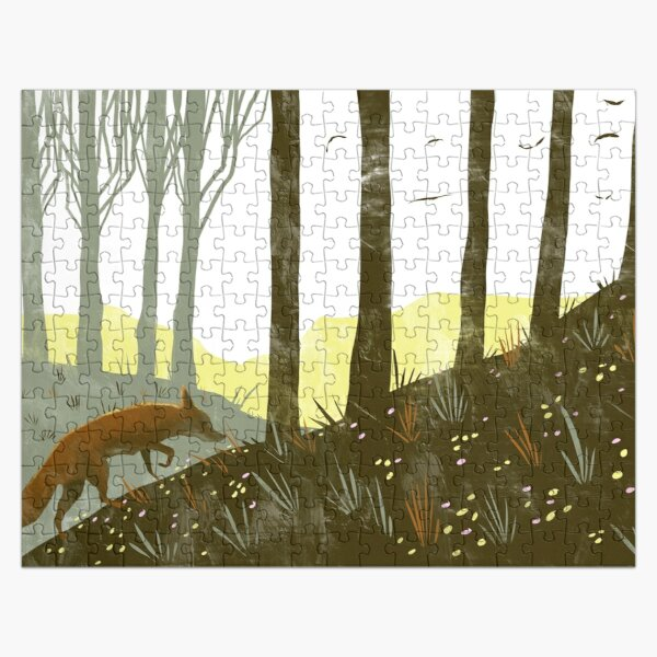 A Fox on the Trail Jigsaw Puzzle