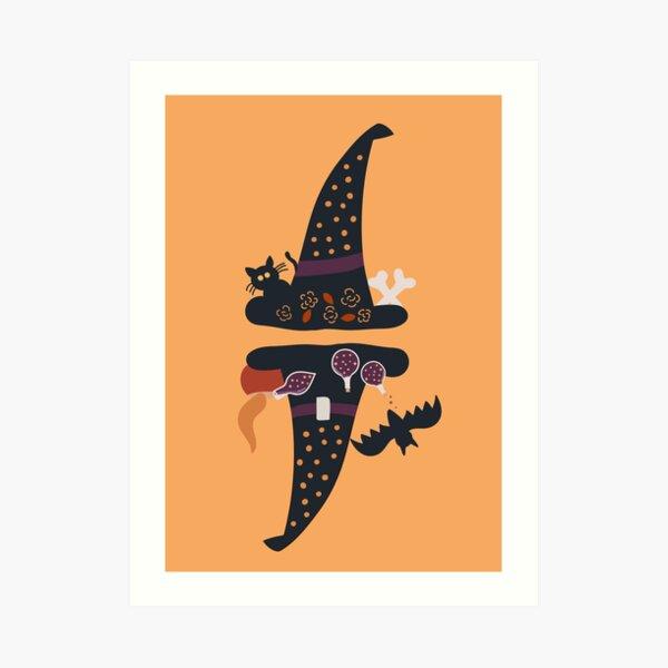 Witch's Hat, Happy Halloween ! Art Print