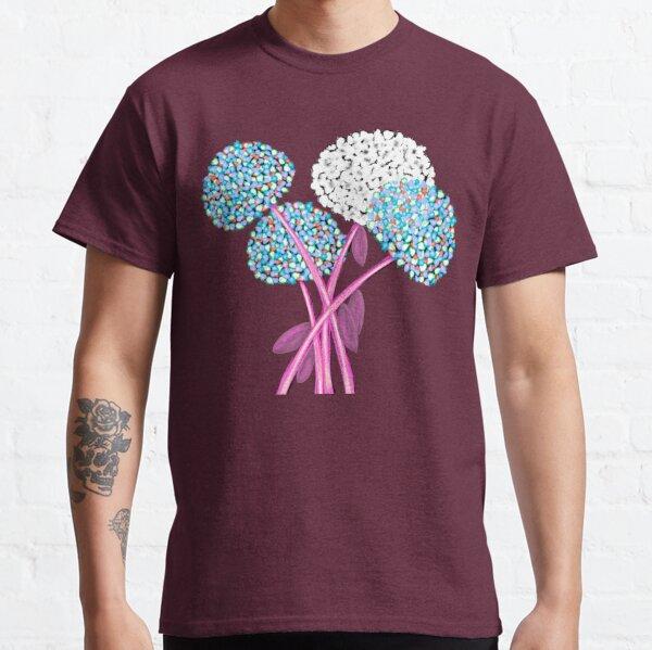 Pom Pom Flowered Bouquet Blue Classic T-Shirt