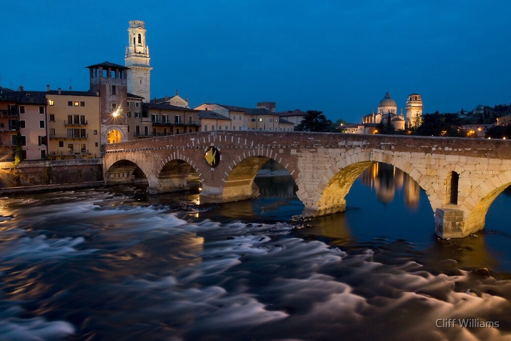 Ponte Pietra, Verona, Italy by Cliff Williams