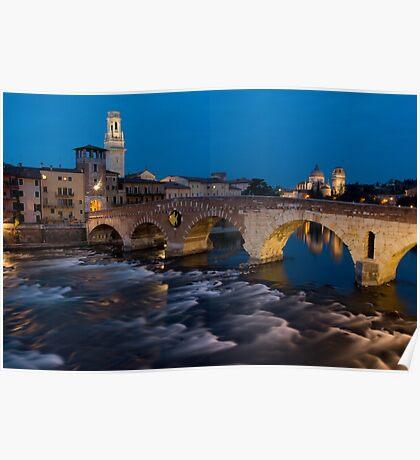 Ponte Pietra, Verona, Italy Poster