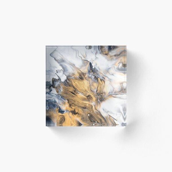 Gold Marble Acrylic Block