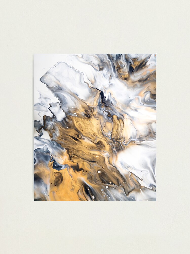 Alternate view of Gold Marble Photographic Print