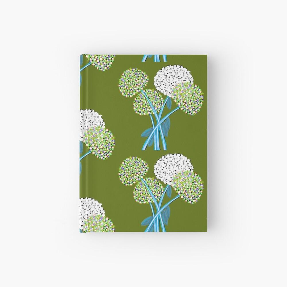Pom Pom Flowered Bouquet Green Hardcover Journal