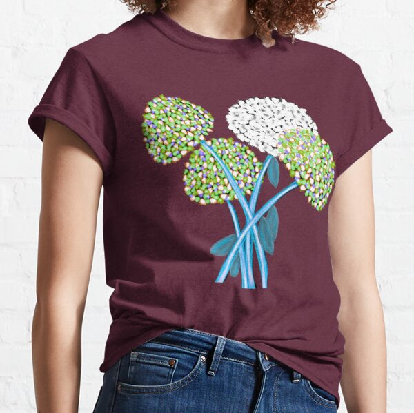 Pom Pom Flowered Bouquet Green Classic T-Shirt