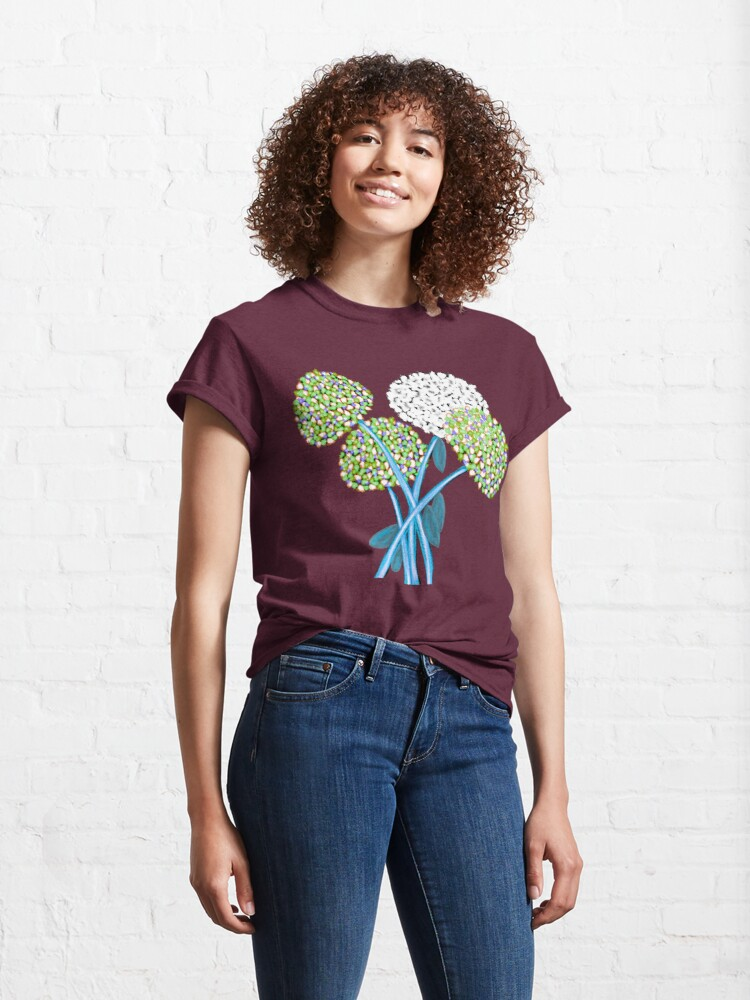 Alternate view of Pom Pom Flowered Bouquet Green Classic T-Shirt