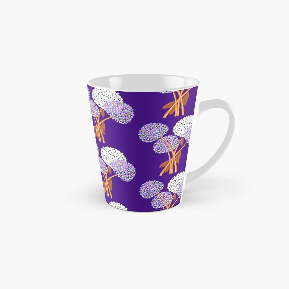 Pom Pom Flowered Bouquet Lavender Mug