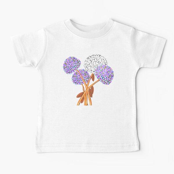 Pom Pom Flowered Bouquet Lavender Baby T-Shirt
