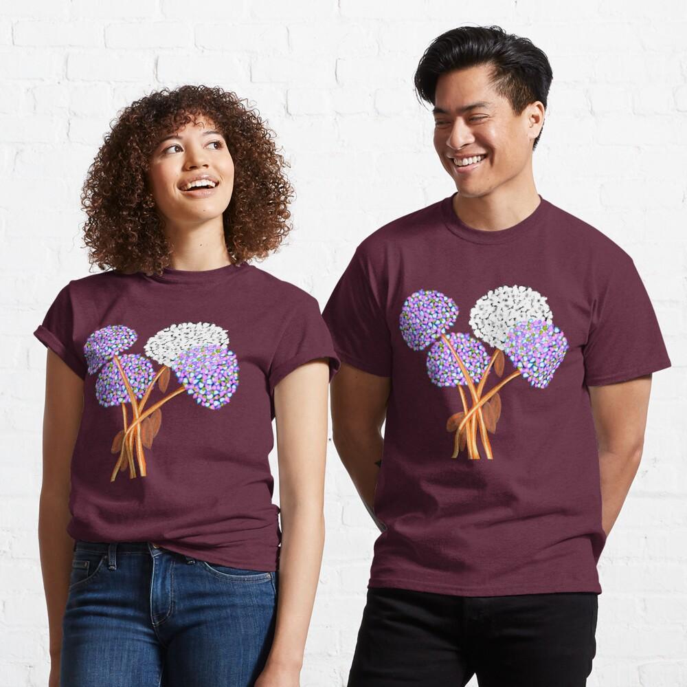 Pom Pom Flowered Bouquet Lavender Classic T-Shirt
