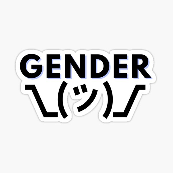 Gender Shrug Sticker