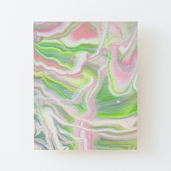Pink Topography Wood Mounted Print