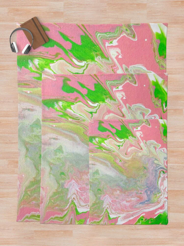 Alternate view of Pink Spill Throw Blanket