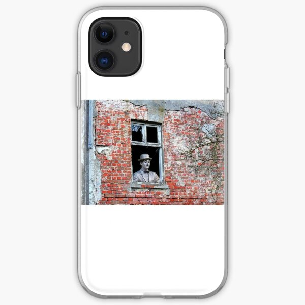 charlie chaplin looking on iPhone Soft Case