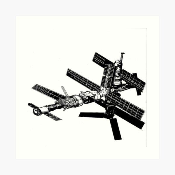 Mir Space Station Art Print