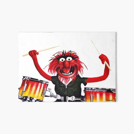 Animal Drummer Art Board Print