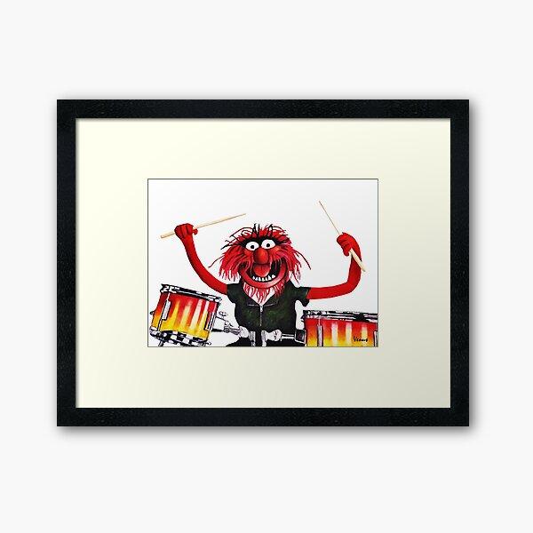 Animal Drummer Framed Art Print