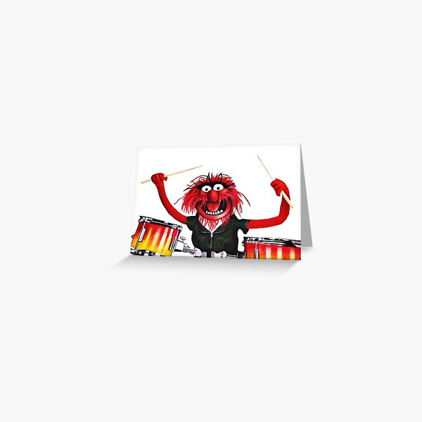 Animal Drummer Greeting Card