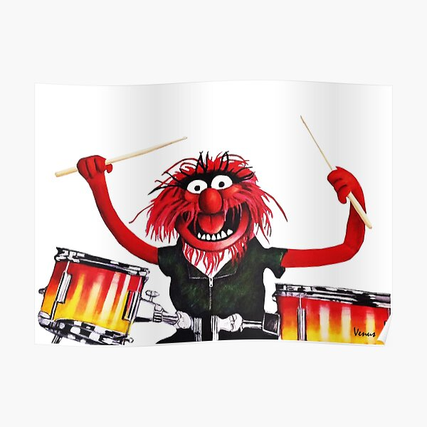 Animal Drummer Poster