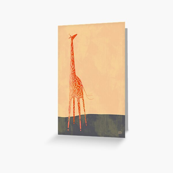 Sun Giraffe Greeting Card