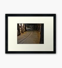 Dog Leg Tunnel, Cockatoo Island. Framed Print