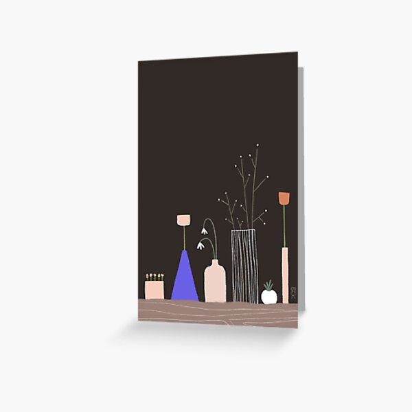 Night Flowers Greeting Card
