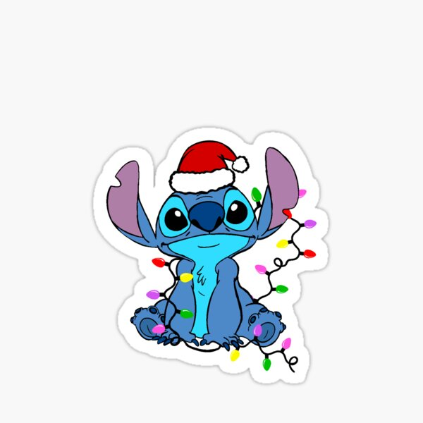 Stitch Christmas Sticker Sticker