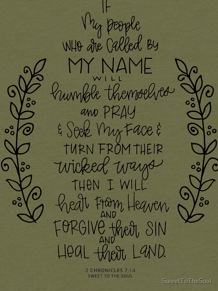 hand lettered scripture art - 2 Chronicles 7:14 by SweetToTheSoul