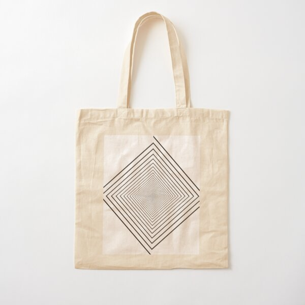 Square spiral Cotton Tote Bag