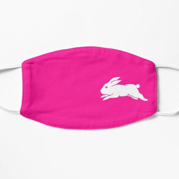 South Sydney Rabbitohs - White Rabbit on (Deep) Pink Flat Mask