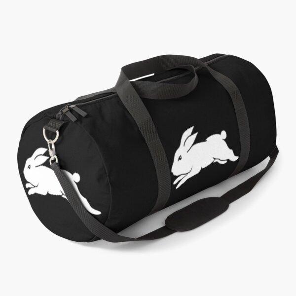 South Sydney Rabbitohs - White Rabbit on Black Duffle Bag