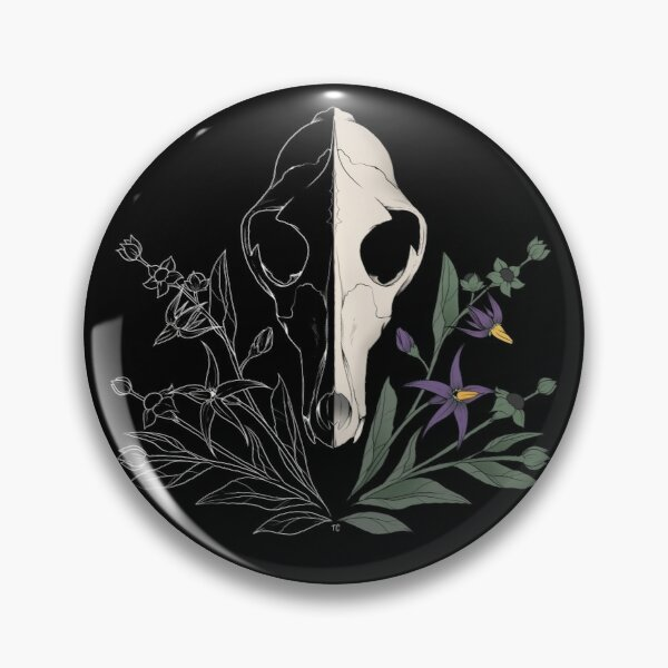 Nightshade Skull Pin