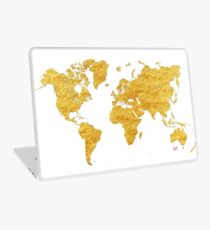 World Map Gold Vintage Laptop Skin
