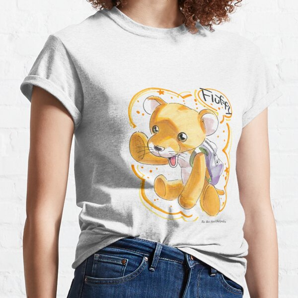 Cute Traveling Manga Leopard with Backpack Classic T-Shirt