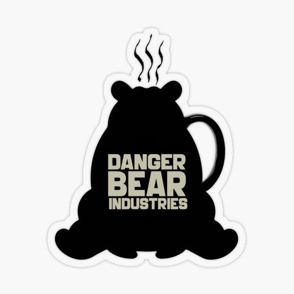 Coffee Bear from Danger Bear Industries Transparent Sticker